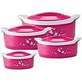 Milton Casserole Marvel 500/1000/1500/2500ml, Pink(Pack of 4)