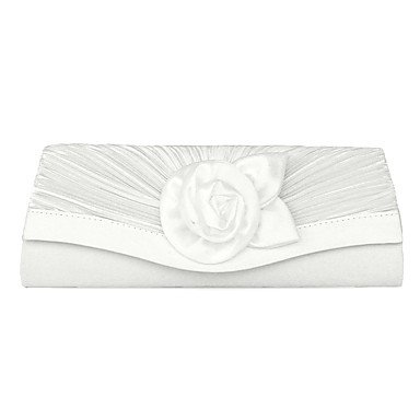 Damenmode Rose eine Seide Dinner-package Tasche White