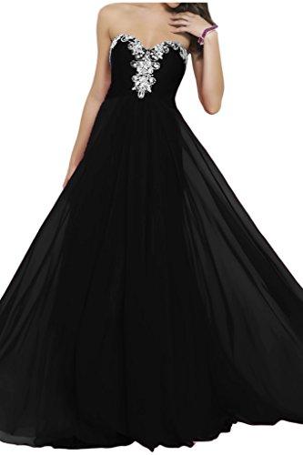 Victory bridal elegant stickreien pierres herzenfrom abendkleider ballkleider de soirée en chiffon Noir