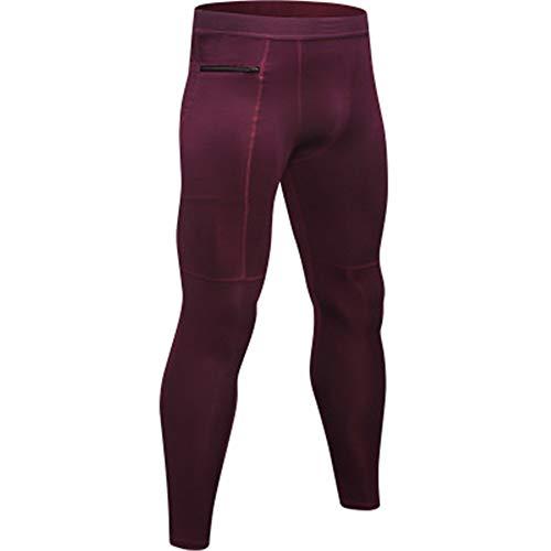 GIRlAA Men Yoga Pants Stretch Compression Legging Tights Zipper Pocket Sweatpants Sweat Quick-Drying Running Yoga Pants x1XL -