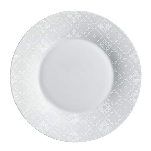 Luminarc L8323 6 Assiettes Plates 28 cm-CALICOT Granit, Gris