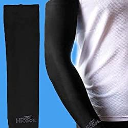 Konex VJ Biking & Sports Arm Sleeves- Protection from Sun, Dust and Pollution (HI-COOL),Black