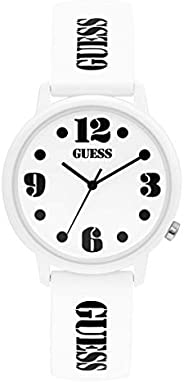 GUESS Unisex-Adult Quartz Watch, Analog Display and Silicone Strap V1042M1