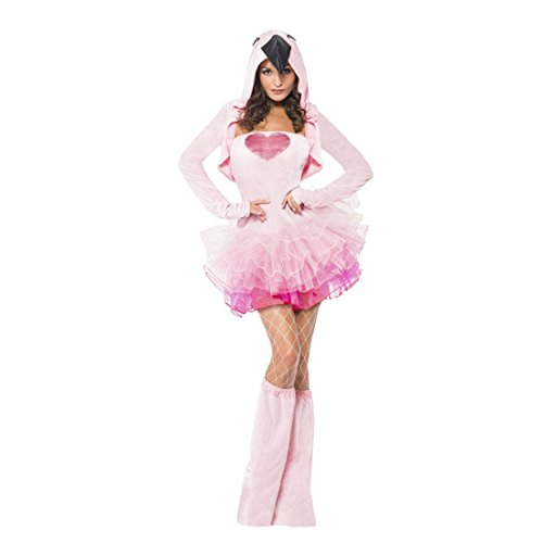 Flamingo Kostüm Tierkostüm Damen S 36/38 Cosplay Damenkostüm Set Ballerina Tutu Tier Verkleidung Sexy (Flamingo Erwachsene Kostüme)