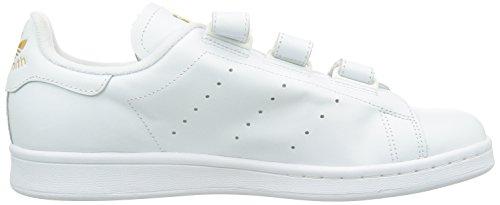adidas Stan Smith, Baskets Mode Mixte Adulte Blanc (Ftwr White/Ftwr White/Gold Met)
