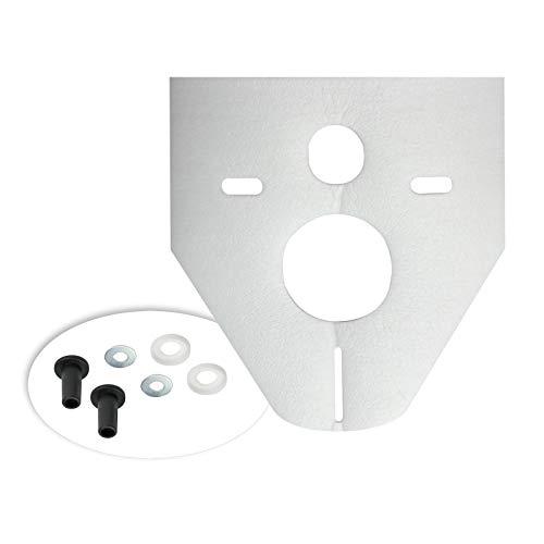 Otto Haas 7440 Schallschutzset für Wand-WC, Bidet Standard, 4mm, weiß -