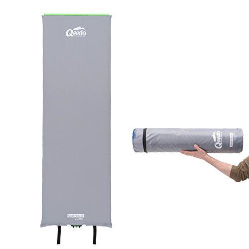 Qeedo Quick Pad 500 XL Isomatte selbstaufblasend 202 x 66 cm (vers. Stärken) selbstaufblasbare Isomatte inkl. Tornado-Ventil (schneller), Easy-Roller (einfaches & kompakt) und robuster Packtasche - Xl Isomatte