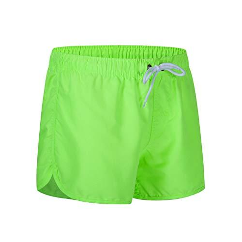 CAOQAO Pantaloni da Uomo Pantaloncini Jeans/Primavera Estate Moda Cintura Cintura Spiaggia Sport Surfing Spiaggia Pantaloni da Spiaggia/Verde/M-XXL
