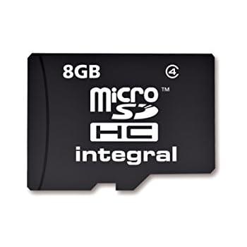 Integral MITFSD8GBC4 - Tarjeta de Memoria Micro SDHC de 8 GB Clase 4 con Adaptador