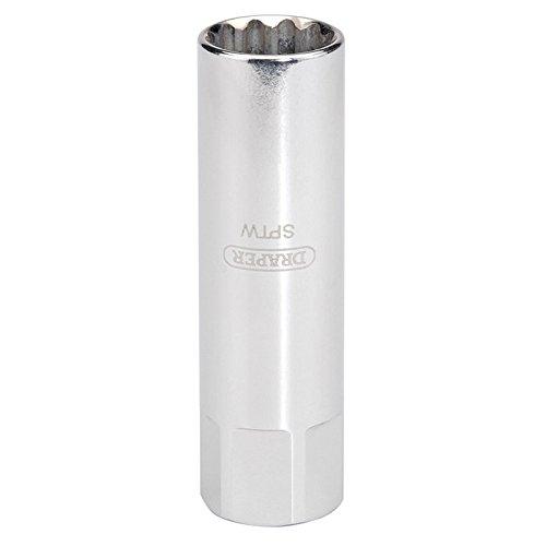 Preisvergleich Produktbild Draper 8 mm Gewinde (14 mm Steckschlüssel) 3/8 Zoll Innenvierkant, Hi-Torq 12-Punkte-Zündkerzenschlüssel, 1 Stück, 22272