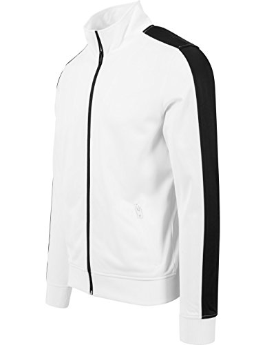 Urban Classics Herren Jacke Track Jacket Mehrfarbig (wht/blk 224)