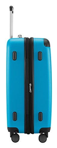 HAUPTSTADTKOFFER® 128 Liter XL Reisekoffer · SPREE · TSA · MATT · NEU 4 Doppel-Rollen · (in 12 Farben) + LogiLink® Flugzeug Audio Adapter (Cyan Blau) Cyan Blau