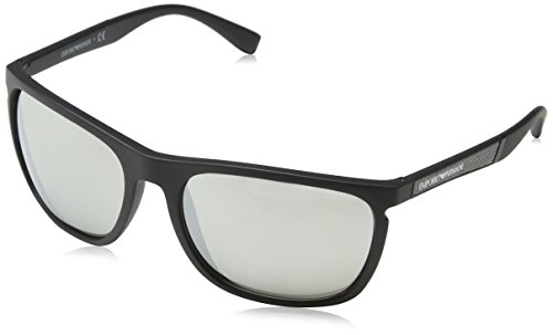 Emporio Armani Herren 0ea4107 Sonnenbrille, Schwarz (Matte Black), 59