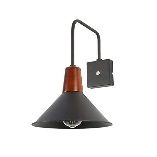 Applique murale Nordic Simple avec commutateur tactile Salon Etude Lecture Lamp Applique murale décorative en fer, E27, noir, W25.5 * H37.6cm