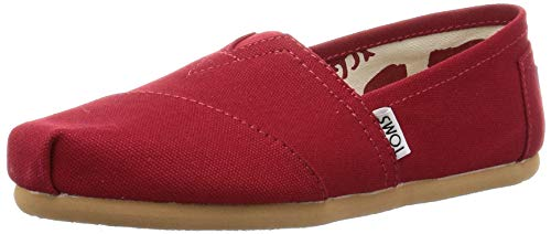TOMS Women's 001001b07-red Red Canvas Wm CLSC Alpargata Flat -