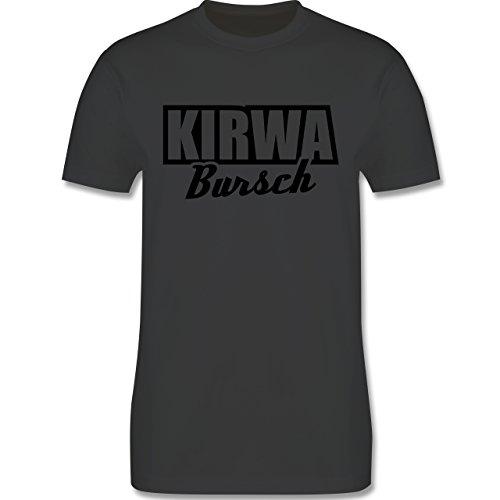 Oberpfalz Männer - Kirwabursch - L190 Schlichtes Männer Shirt Dunkelgrau