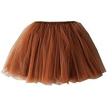 Z.z Niñas 'Red Yar Fold Fancy tutú de ballet de baile partido falda