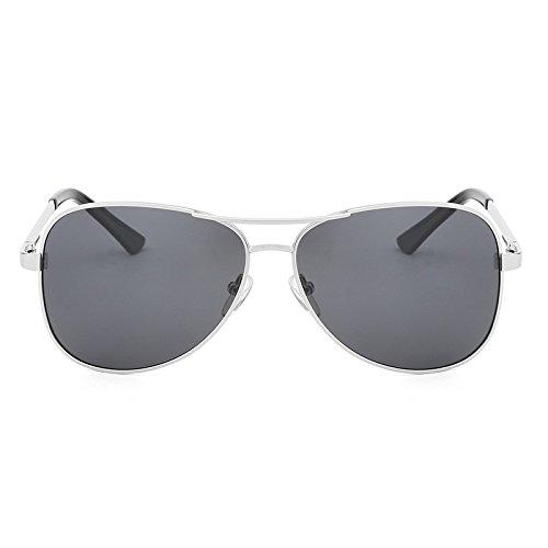 Männer Kostüm Klassische - Y-WEIFENG Polarisierte Sonnenbrille Pilot Männer Kostüm Designer Klassische Schutz Metall Sonnenbrille Fahren Gläser UV400 (Color : Sliver Gray)