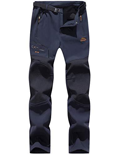 Blu Navy Pantaloni da Uomo da Lavoro Grigio/Nero e Nero/Grigio Modello Cargo Resistenti con Tasche per Cuscinetti sulle Ginocchia e Cuciture rinforzate; Disponibili in Nero