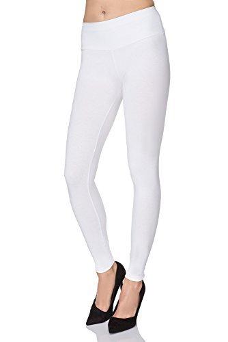 mitaami mujer cintura alta Leggings Adelgazante Efecto Bragas Talla Grande REDUCTOR ABDOMEN cinturilla - Blanco, 24 UK / 50 EU
