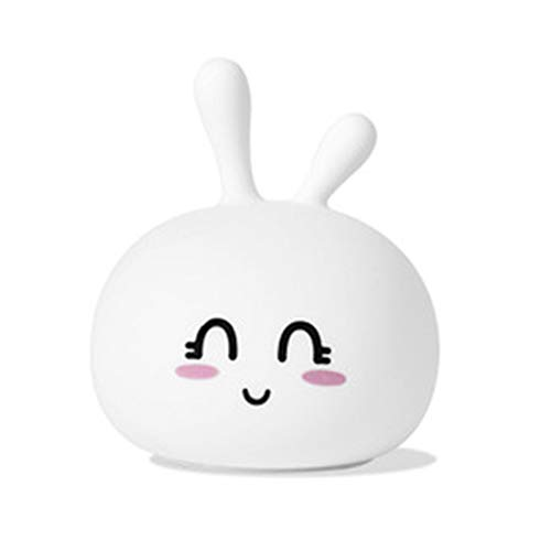 Fefaxi Farbwechsel Nachtlicht Niedliche Kaninchen Silikon Nachtlampe für Baby Kinder Mädchen Frauen Schlafzimmer und Kindergarten