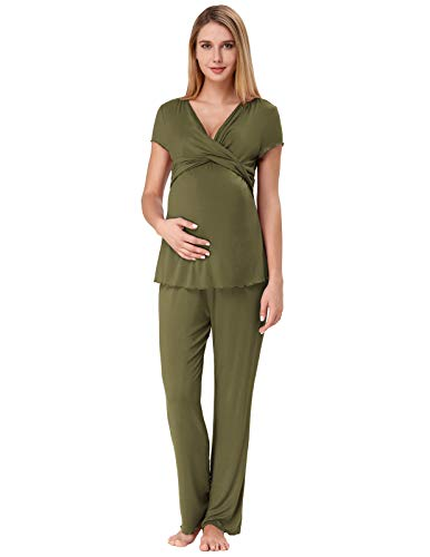 92e5dabdeb1 Zexxxy Sleepwear Breastfeeding Woman Sleepwear Set Maternity Nursing  Sleepwear Maternity Pregnancy Bleu Marin M