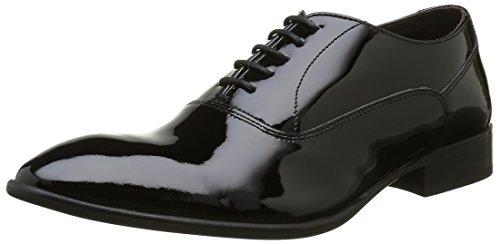 Base London - Holmes, Scarpe stringate Uomo Nero (Noir (Patent Black))