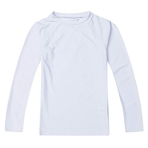 LACOFIA Traje de baño Infantil Camiseta de baño de Manga Corta para niños Rashguard con protección...
