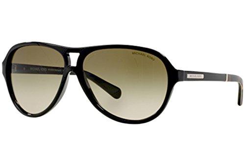 Michael Kors Damen Sonnenbrille MK6008 Weiß, (Oak White Black 301214), One Size (Herstellergröße: 60)