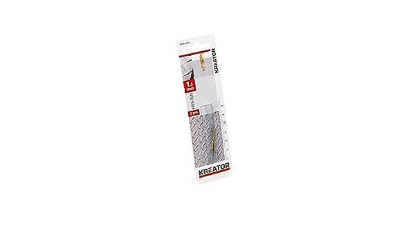 Broca//Metal HSS-tin 1.5x40 mm KREATOR KRT010202 KRT010202-2 uds
