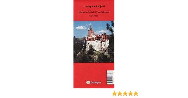 Brasov County Tourist Map Central Romania 1 250 000