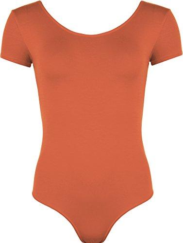 WearAll - Damen elastischer Body Top - Rost - 40-42 (Anzug Orange Rock)