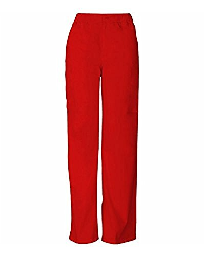 Everyday Scrubs Signature By Dickies Men's Zip Fly Pull On Scrub Pant Small Tall Red (Dickies Scrubs Zip)
