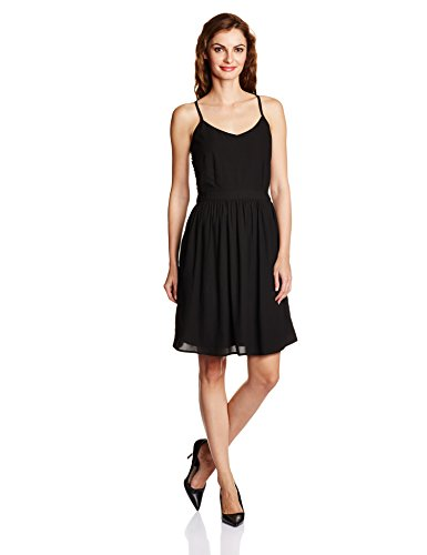 People Women's A-Line Dress (P20402065279100_Black_S )  available at amazon for Rs.549