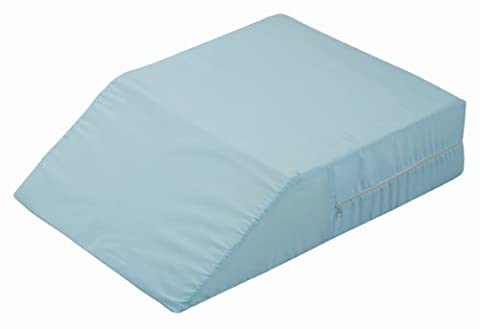 DMI Ortho Bed Wedge Supportive Foam Leg Rest Cushion Pillow for Elevating Legs, Improving Circulation and Reducing Back Pain, Blue by MABIS DMI Healthcare