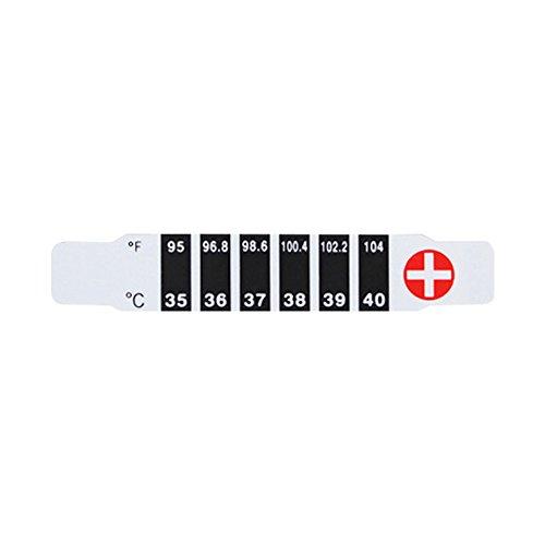 Newin Étoiles Front Tête Strip Thermomètre Fever Body Bébé Enfant Kid Adulte Check Test de Sécurité de Surveillance de la Température Non Toxique 9.7*2.1cm
