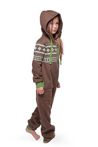 Jumpster Jungen und Mädchen Jumpsuit Overall Alpaka Kids Wood Braun S (116-122) - 3