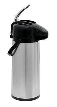 Update International NVAL-22BK Stainless Steel Val-U-Air Glass Lined Regular Coffee Air Pot, 74-Ounce, Set of 3