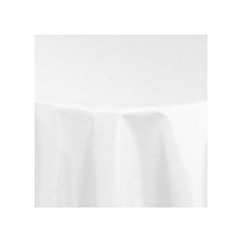 Tischdecke Damast rund 280 cm Vollzwirn 100% Baumwolle mit Atlaskante in Weiss, Gastro bzw. Hotel Qualität, Größe wählbar