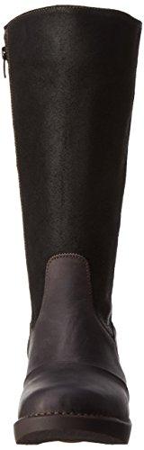 art - Zundert, Stivali alti con imbottitura leggera Donna Nero (Nero (nero))