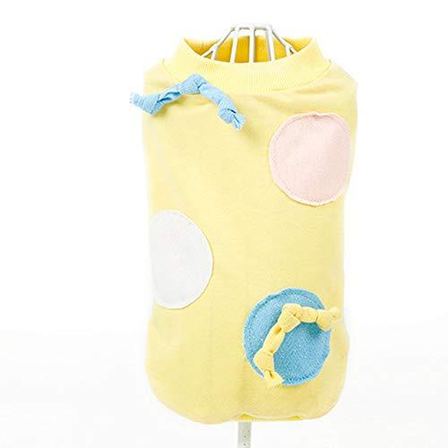 SEN Ropa para Mascotas Polka Dot Big Candy Dog Dog Ropa de Dos pies Osito de Peluche - Azul Claro (M)