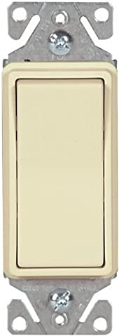 Cooper Wiring Devices C7511A-SP-L 15-Amp, 120-Volt Standard Grade Single-Pole Metal Strap Decorator Lighted Switch, Almond by Cooper Wiring