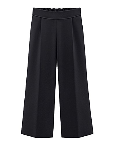 Pantaloni donna vita alta chiffon eleganti estivi pantaloni larghi pantaloni taglie forti casual pantalone a figura intera nero 5xl