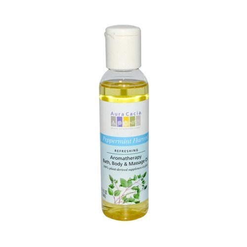 Aura Cacia Aromatherapy Bath Body and Massage Oil Peppermint Harvest - 4 fl oz by Aura Cacia