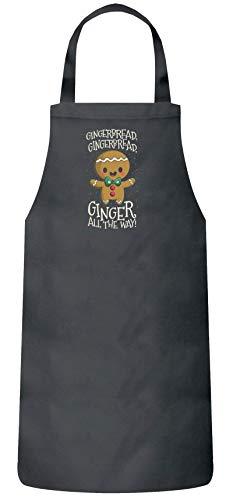 n Weihnachtsgeschenk Frauen Herren Barbecue Baumwoll Grillschürze Kochschürze Jingle Bells Gingerbread, Größe: onesize,Dark Grey ()