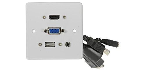 AVLink 3,5mm HDMI VGA USB Wanddose Hdmi-steckdose