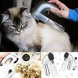 Dagali Cat Dog Pet Hair Fur Remover Grooming Brush Comb Vacuum Cleaner Trimmer Plastic Multi-Color (1 PC)