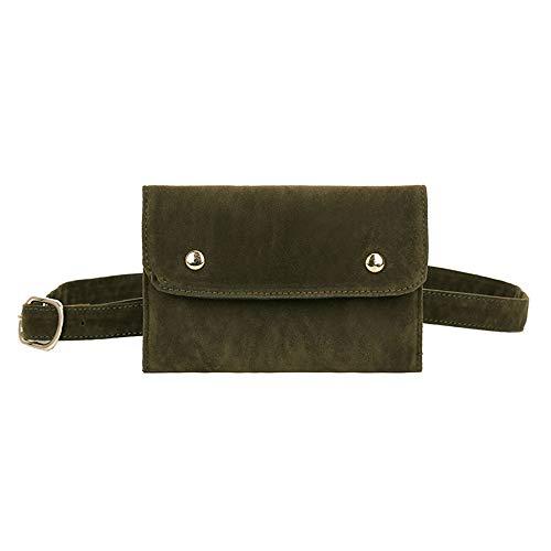 VJGOAL Damen Kupplung, Frau Abendpaket Rein Farbe Quadrat Herde Bote Tasche Brusttasche Mode Gürteltasche -