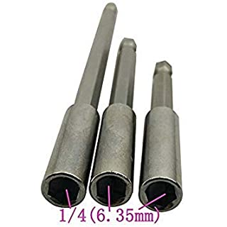 1/4 Electric Screwdriver Pistol Drill Magnetic Connecting Rod Extension Rod 6.35Mm Adapter Sleeve Fast