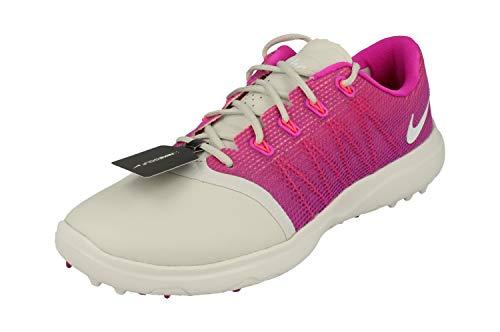Nike, Scarpe da Golf Donna Multicolore Plata/Blanco/Rosa 36.5